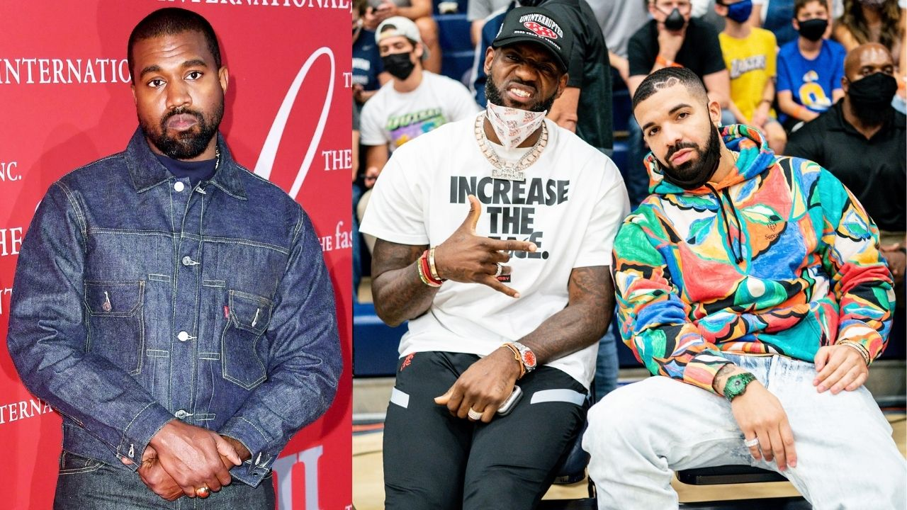 """""""Drake is trying to re-ignite the beef between LeBron James and Kanye West"""": NBA Twitter reacts to the Lakers' superstar catching a stray diss from Ye"""