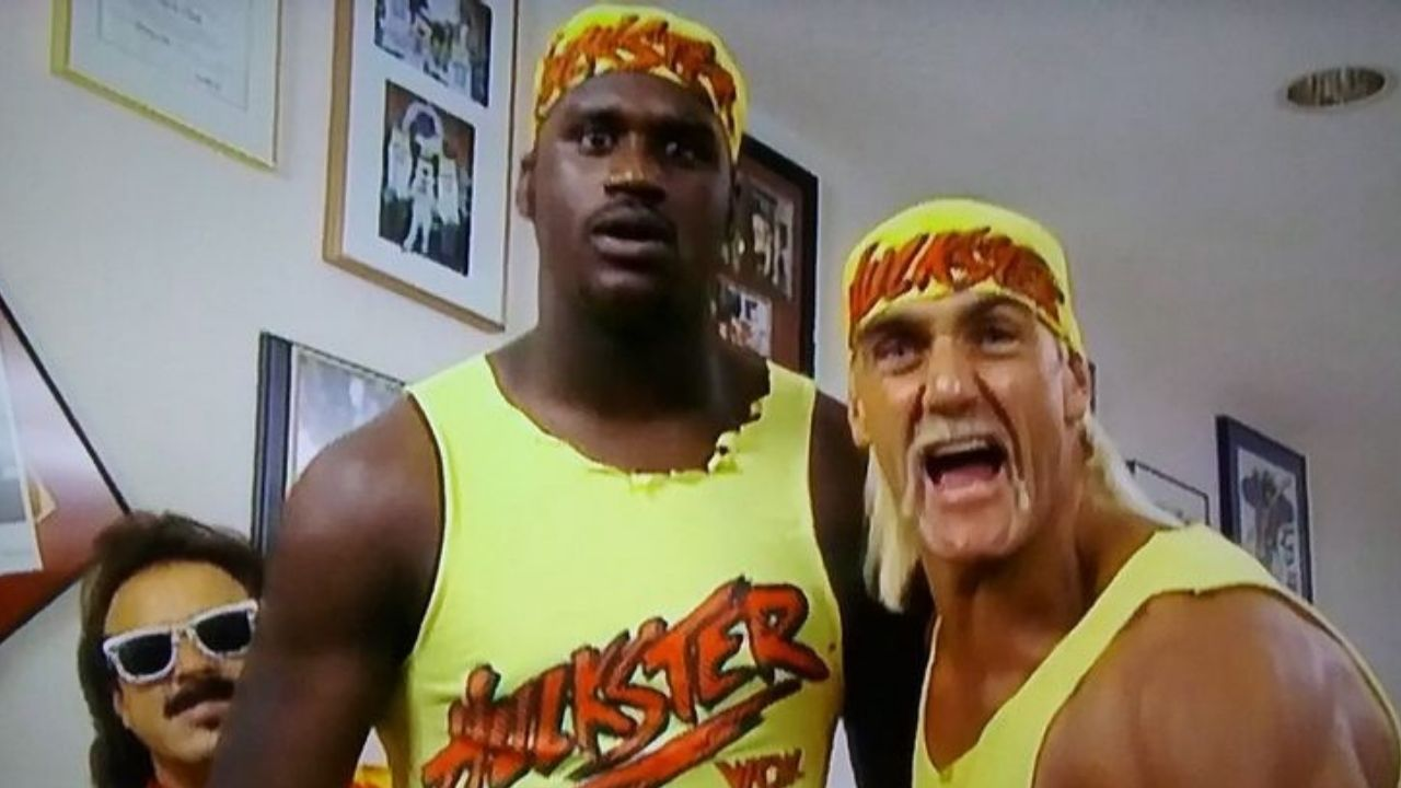 """""""Shaquille O'Neal teamed up with Hulk Hogan to defeat Ric Flair"""" When the Lakers legend made his first-ever WWE appearance and proceeded to make the NBA Finals the same season"""
