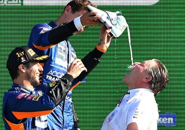 """He's showing what he can do"" - Lando Norris happy teammate Daniel Ricciardo is contributing strongly to McLaren's battle versus Ferrari for P3"