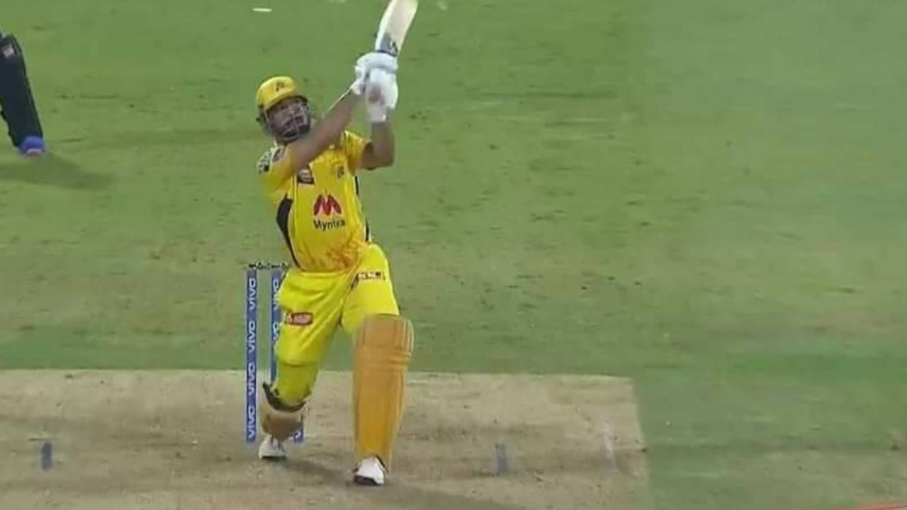 Dhoni last ball six today: MS Dhoni finishes off in style by hitting Siddarth Kaul for a six as CSK qualify for IPL 2021 playoffs