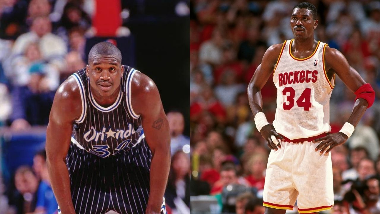 """""""I can do what Shaquille O'Neal can't"""": When Hakeem Olajuwon took the Lakers legend to school by knocking down a few 3s against him"""