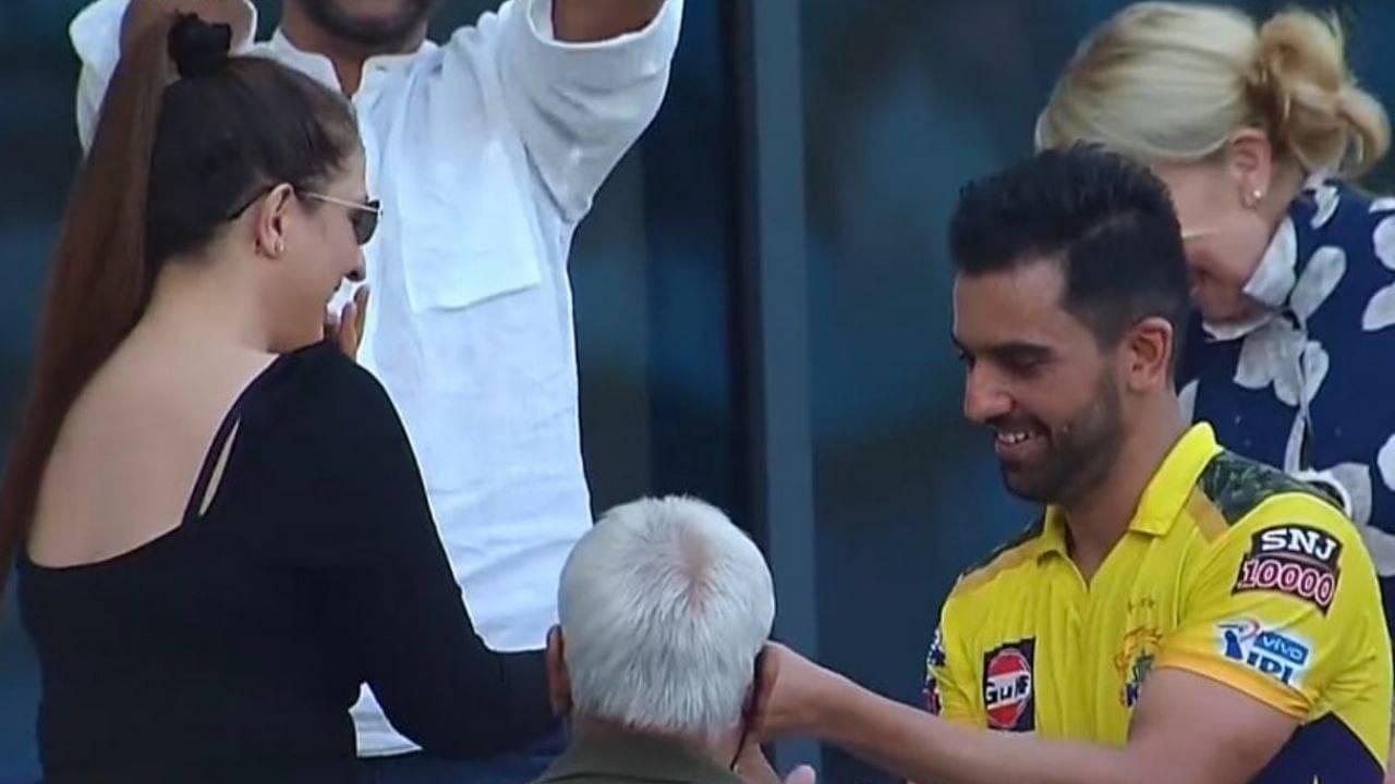 Jaya Bhardwaj Deepak Chahar engagement: Deepak Chahar proposes to girlfriend post CSK vs PBKS IPL 2021 match