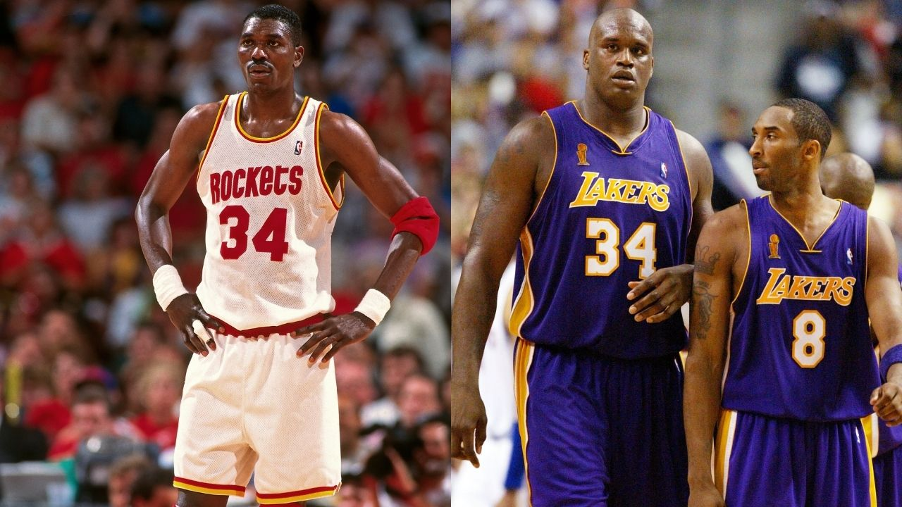 """""""Hakeem Olajuwon schooled Kobe Bryant and Shaquille O'Neal at 37 years old"""": How 'The Dream' had a vintage performance against the two Lakers legends"""