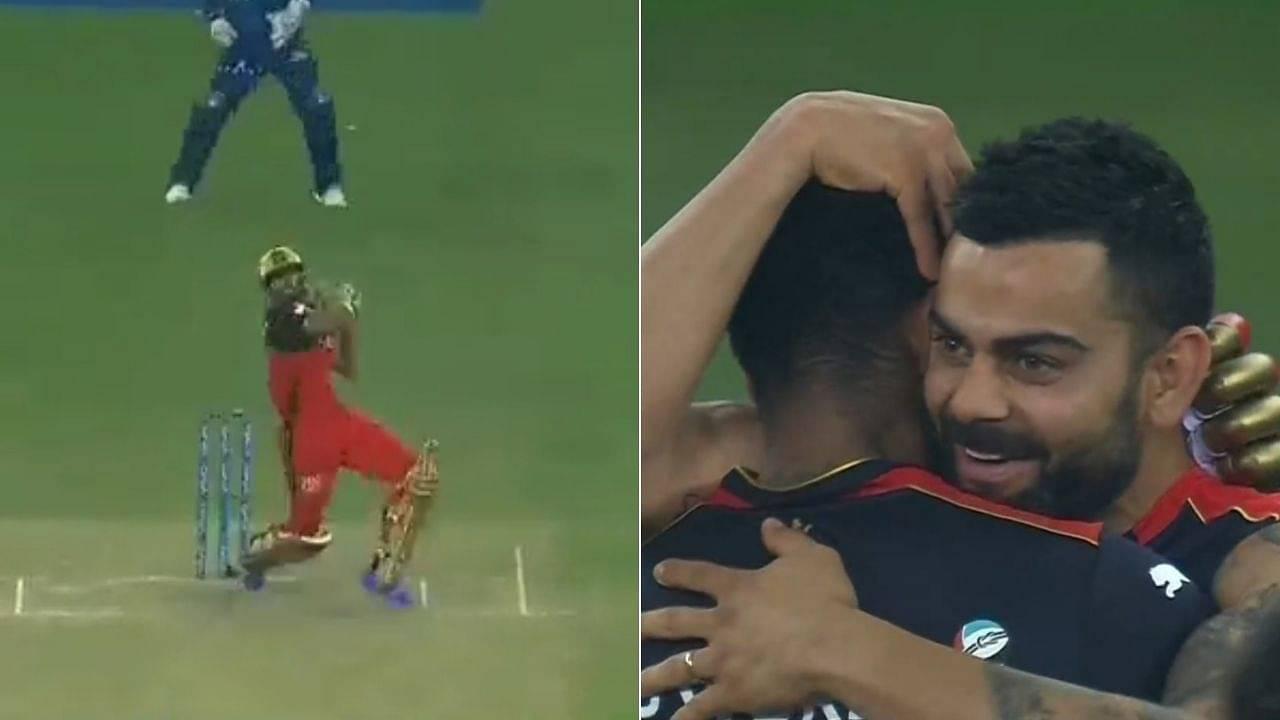 KS Bharat RCB six video: Bharat smacks last-ball six off Avesh Khan to win cliffhanger vs Delhi Capitals