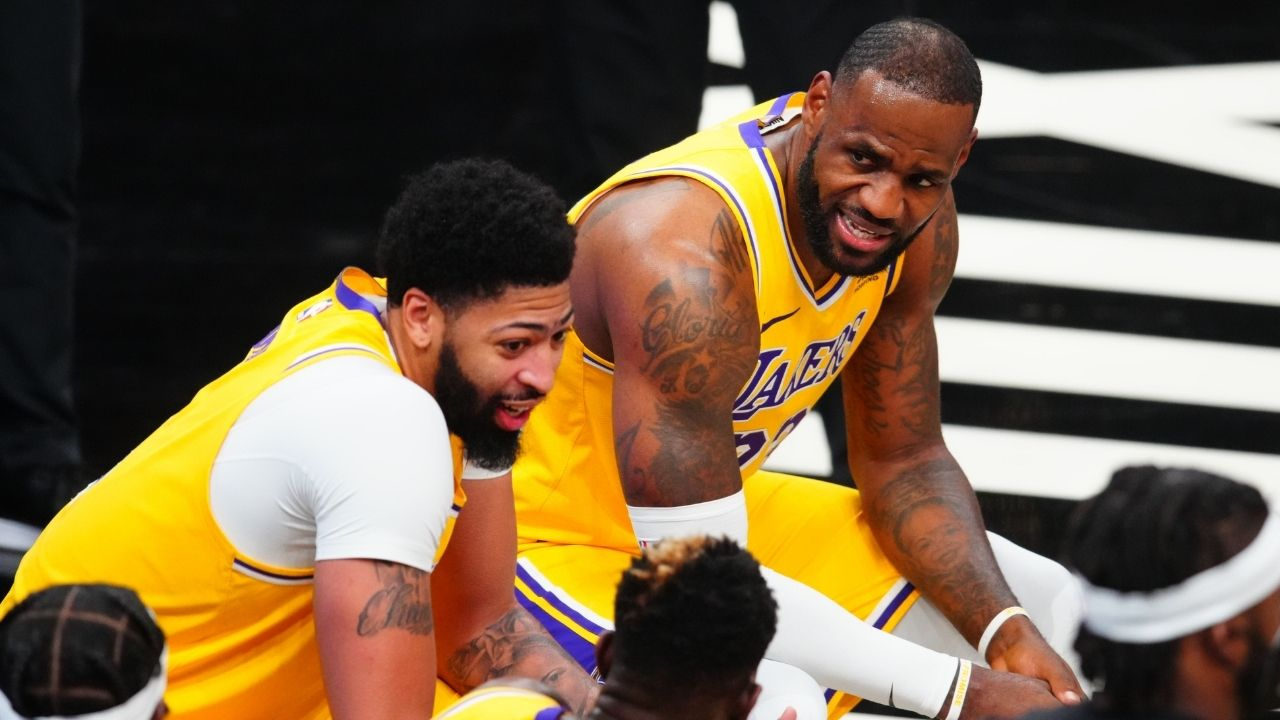 """""""Get on the f***** flight, go see your daughter, what are you doing?"""" LeBron James complains about 'Squid Game' with Anthony Davis following Lakers loss"""