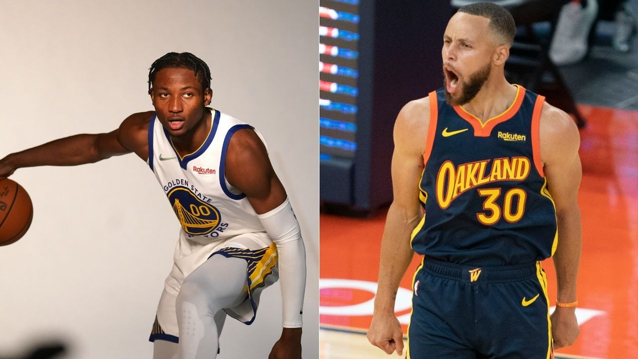 """""""Stephen Curry took Jonathan Kuminga to class for his first session!"""": NBA Twitter reacts to Warriors' training camp videos as 2-time MVP finesses 2021 NBA rookie"""