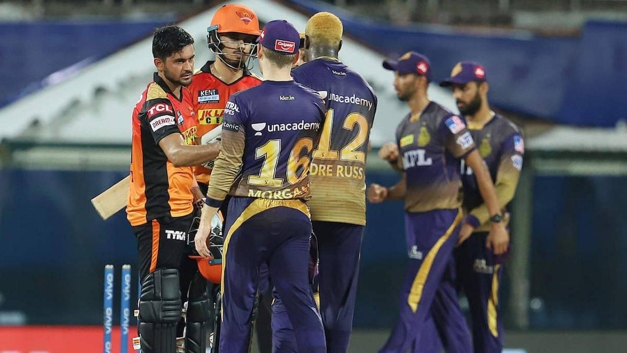 KKR vs SRH Head to Head in IPL history | Kolkata Knight Riders vs Sunrisers Hyderabad stats | IPL 2021 Match 49