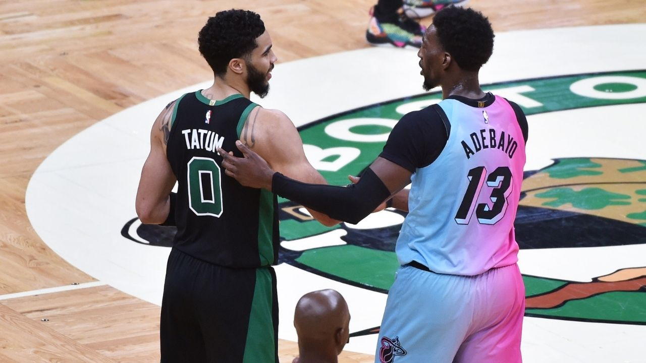 """""""Bam Adebayo, I'm taller than you!"""": Celtics' Jayson Tatum and the Heat's big man have a hilarious social-media exchange, decide to settle the debate when they face each-other next week"""