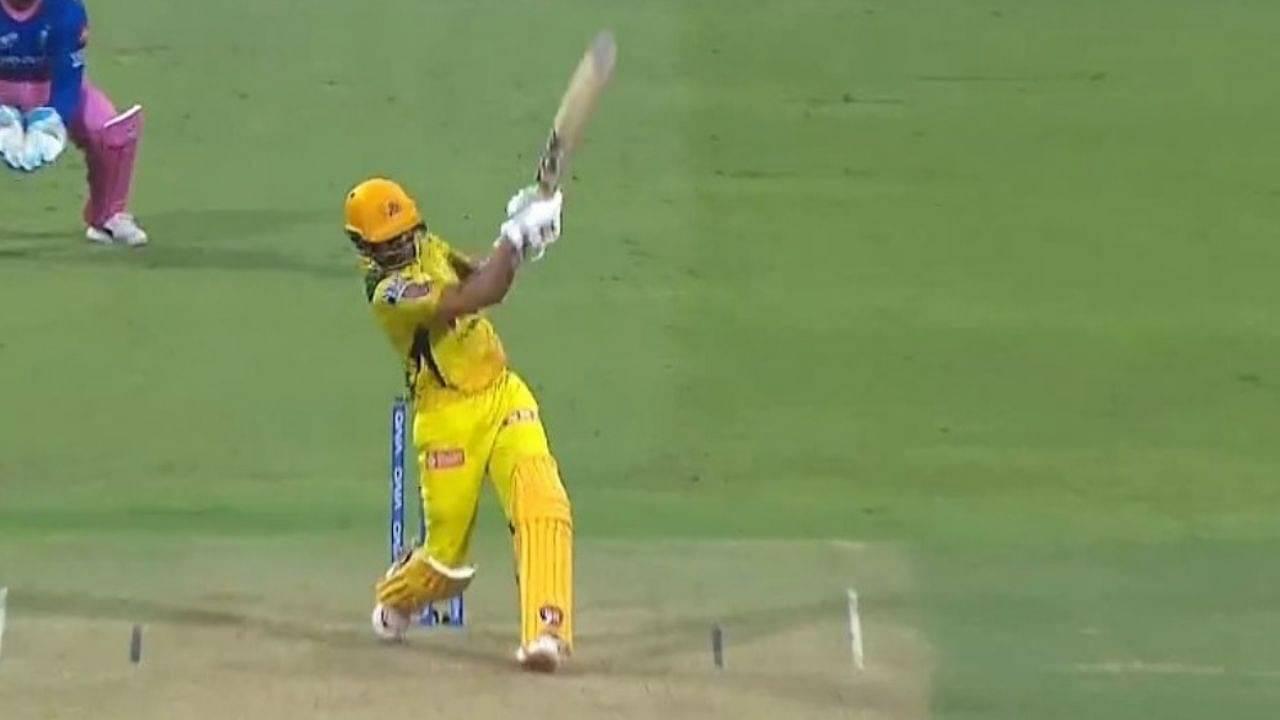 Ruturaj Gaikwad century six: CSK's Gaikwad scored last-ball six to score maiden IPL century vs Rajasthan Royals