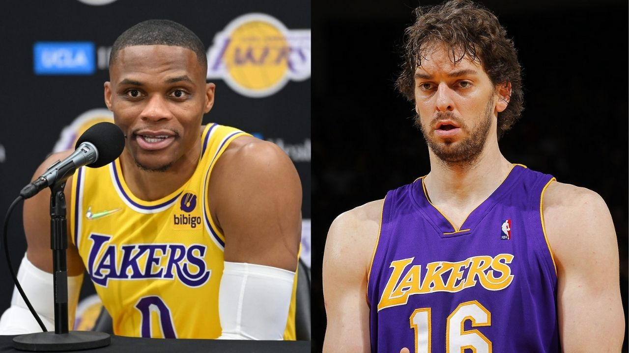 """""""Growing up, Pau Gasol was my favorite player, over Kobe Bryant"""": Lakers' Russell Westbrook pays his respect to the Spanish legend on his retirement"""