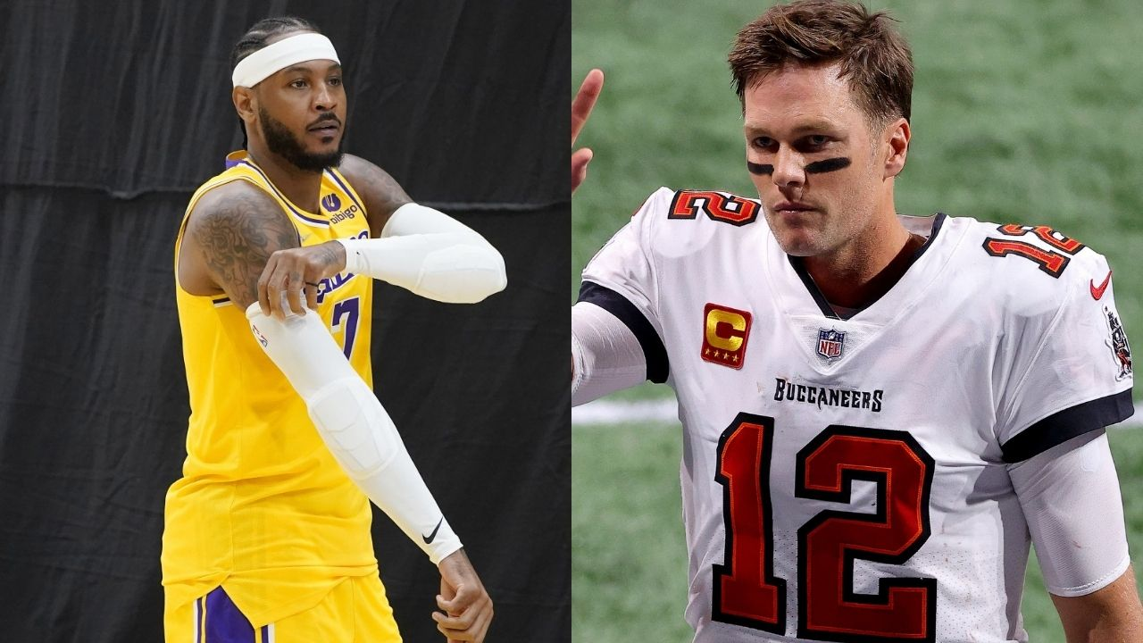 """""""Tom Brady Has An Offensive Line! I Ain't Playing Until 50!"""": Carmelo Anthony Doesn't Think He Can Match Bucs QB's Longevity, But Isn't Considering Retirement Just Yet"""