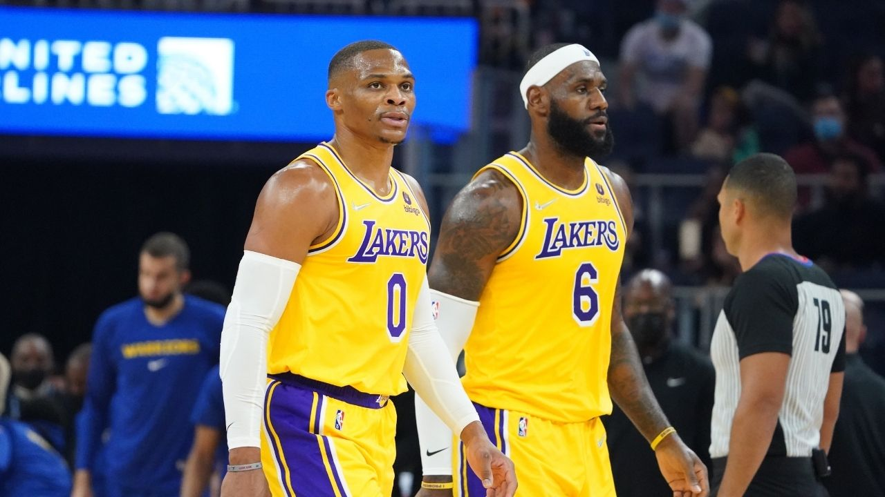 """""""Ultimate Pythagorean theorem? LeBron James + Russell Westbrook = nuclear explosion of the wrong kind"""": Skip Bayless busts out elementary school math analogies to explain Lakers' playmaking conundrum in 2021-22"""