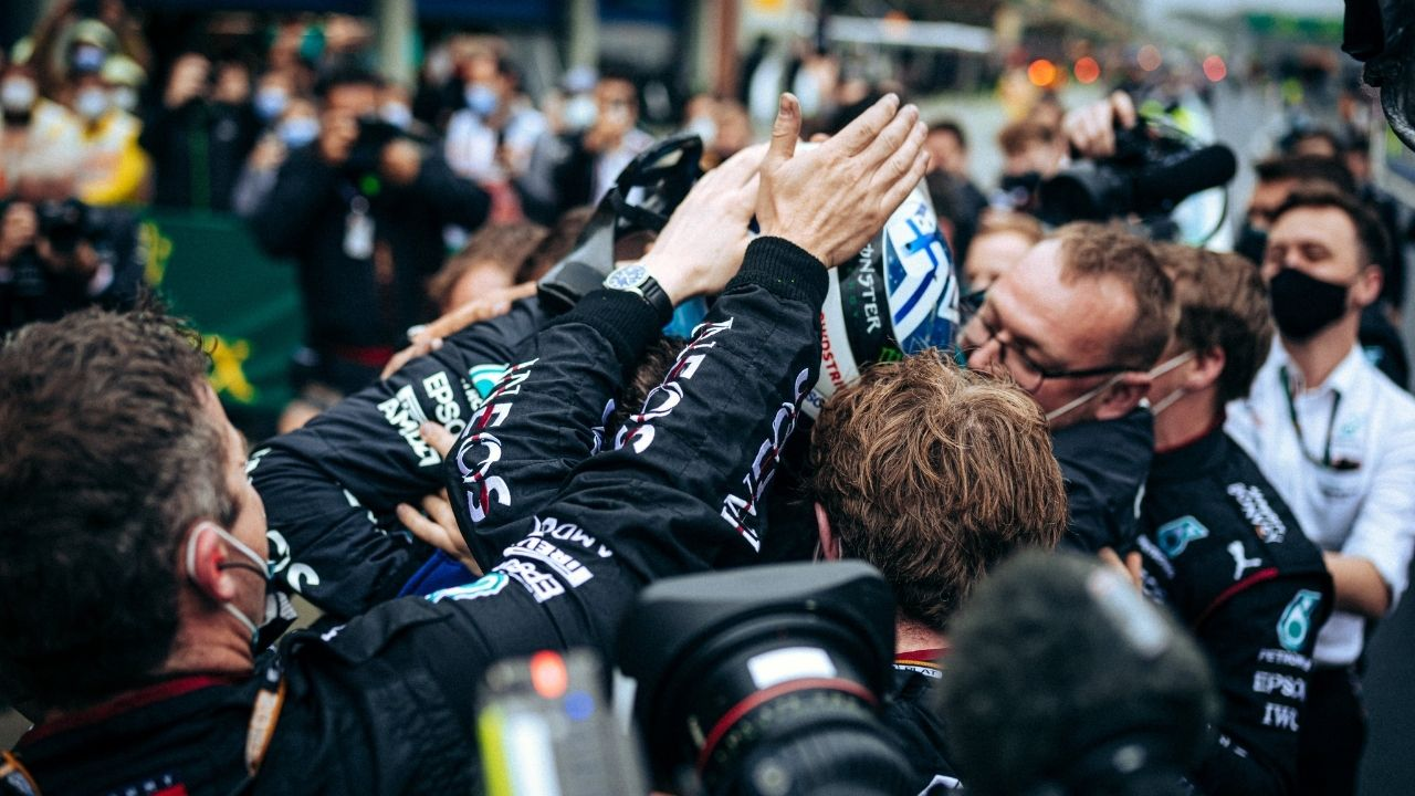 """""""Probably one of the best races of my life, ever"""" - Valtteri Bottas enthused after comfortably winning the Turkish Grand Prix in Istanbul"""