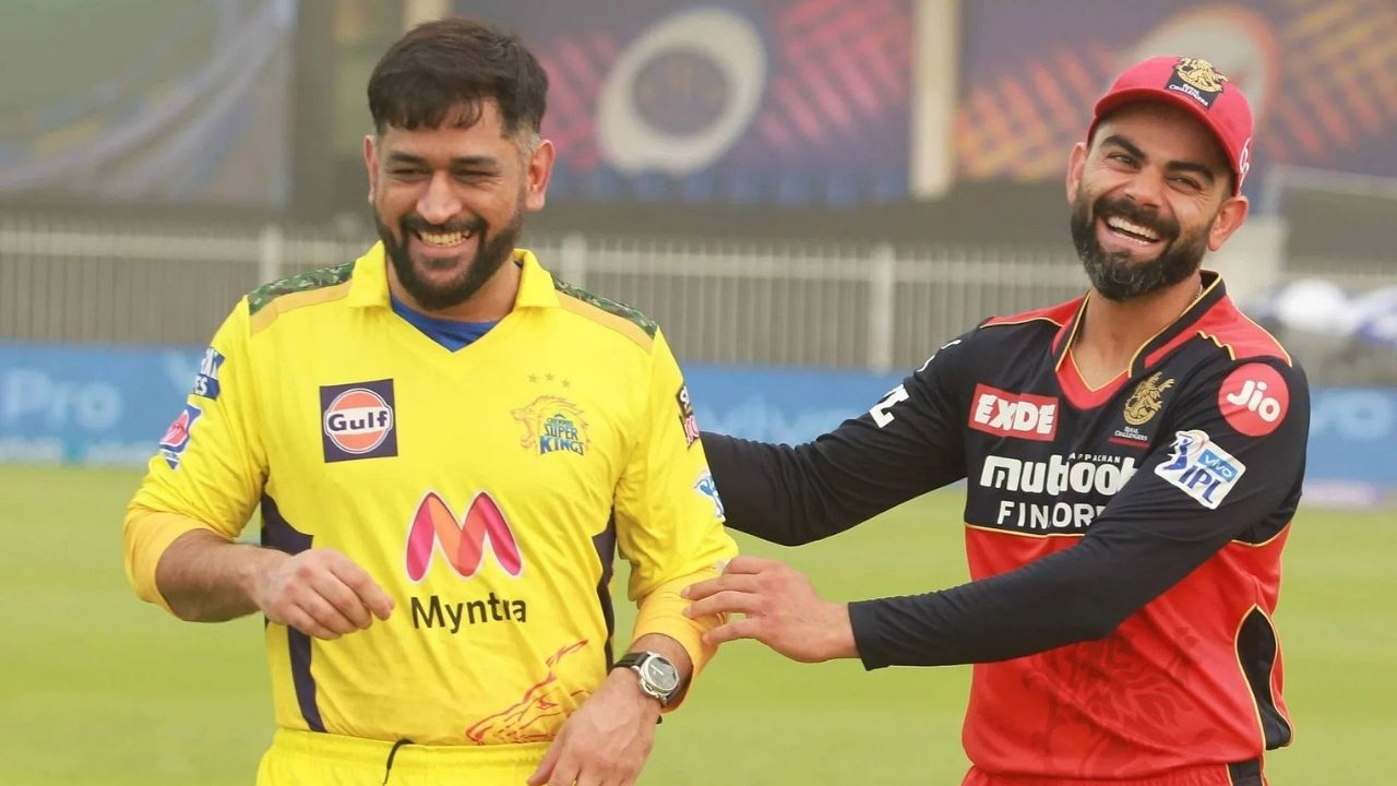 """""""Greatest finisher ever"""": Virat Kohli jumps out of seat to cheer for MS Dhoni in DC vs CSK IPL 2021 Qualifier 1"""