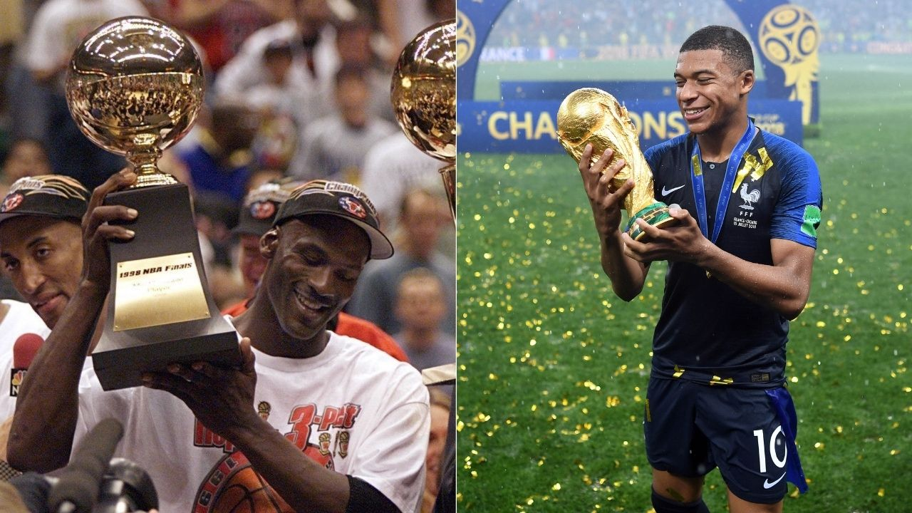 """""""There can be only one Michael Jordan"""": Football megastar Kylian Mbappe reveals in being awe of the Bulls GOAT while dishing out some huge praises"""