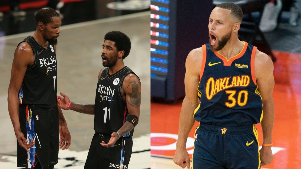 """""""Kevin Durant really left Steph Curry for an unvaccinated Kyrie Irving"""": NBA analyst flabbergasted at the Nets guard potentially missing 41 home games in the 2021-22 season"""