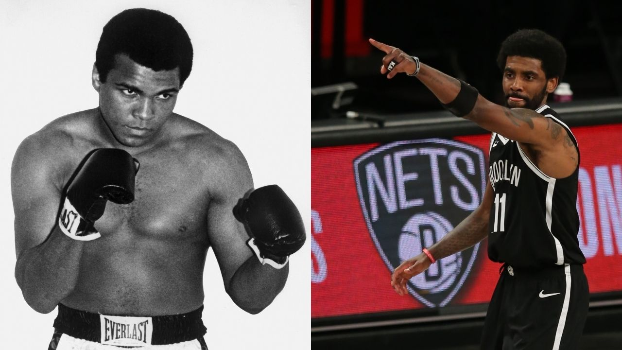 """""""Kyrie Irving is just as courageous now as Muhammed Ali was"""": Jason Whitlock controversially compares the Nets star's civil disobedience to the boxing legend's strife with the US military"""