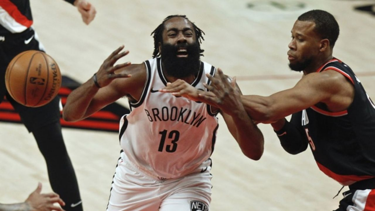"""""""No way James Harden! You aren't getting those calls anymore!"""": NBA Twitter reacts as Nets' superstar tries to draw a foul, doesn't get call under new rules"""