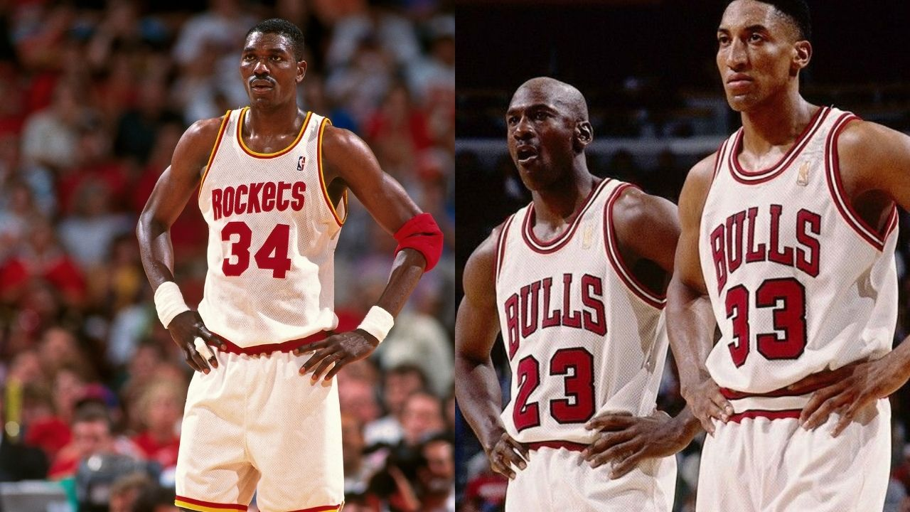 """""""Hakeem Olajuwon dominated Michael Jordan and Scottie Pippen"""": When the Rockets legend dropped an otherworldly statline including 5 blocks and 4 steals against the Chicago Bulls"""