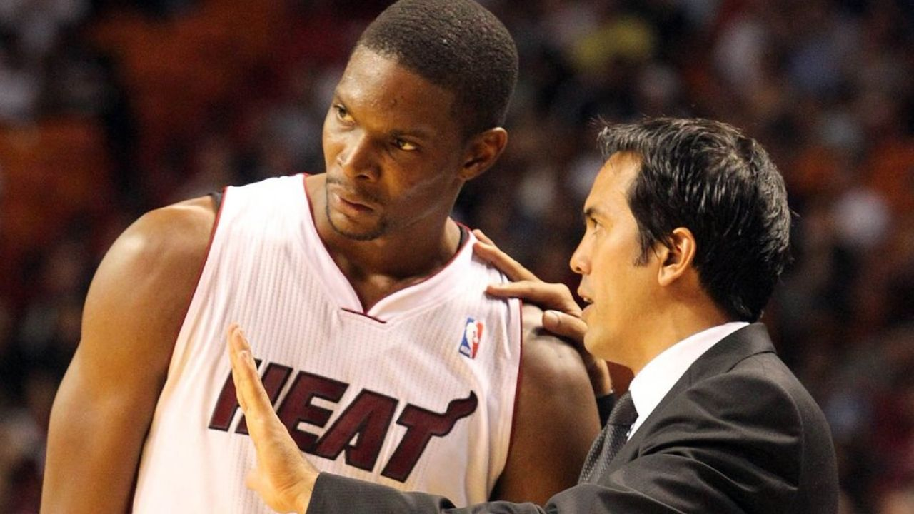 """""""Chris Bosh could have kept playing until he was 40"""": Erik Spoelstra explains how the Heat legend would've still thrived in the league if not for his career-ending injury"""