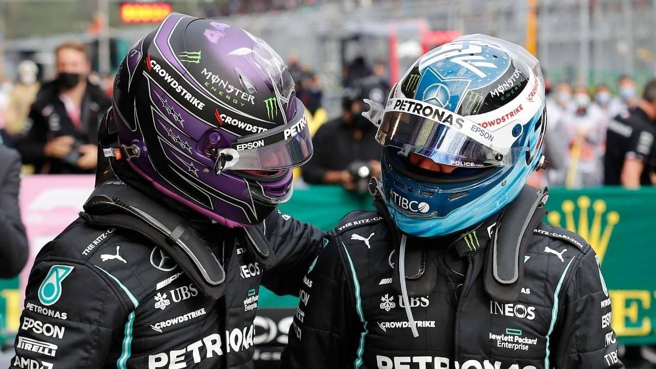 """To Valtteri, enjoy my pole trophy""– Lewis Hamilton dedicates his Turkey pole position reward to his Mercedes teammate ahead of Sunday race"