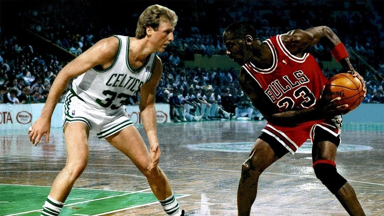 Michael Jordan led the Bulls to dominate the Celtics while Larry Bird had an awful night in their second game against one another.
