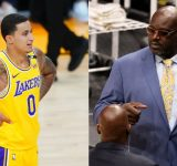 """""""I like the way Kyle Kuzma plays, I'm never trading him"""": When Shaquille O'Neal surprisingly suggested the Lakers retain Kuz over the likes of Brandon Ingram, Lonzo Ball and Josh Hart"""