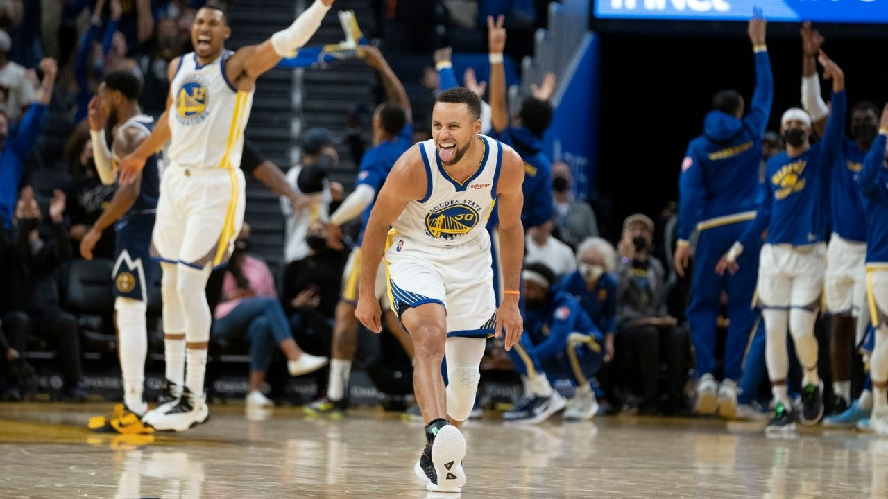 """""""Nuh-uh Stephen Curry, no Draymond Green high-fives for you"""": Nuggets' Aaron Gordon brings out his inner Grinch to stop the Warriors' stars from celebrating a Curry 3"""