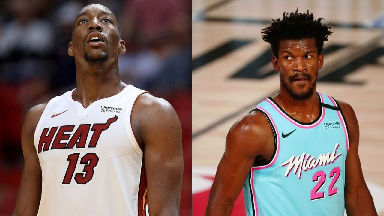"""""""You all seen that? We can't do shit"""": Bam Adebayo admits that Jimmy Butler smuggled him a """"PB&J"""" midgame vs Hawks in yesterday's preseason game"""