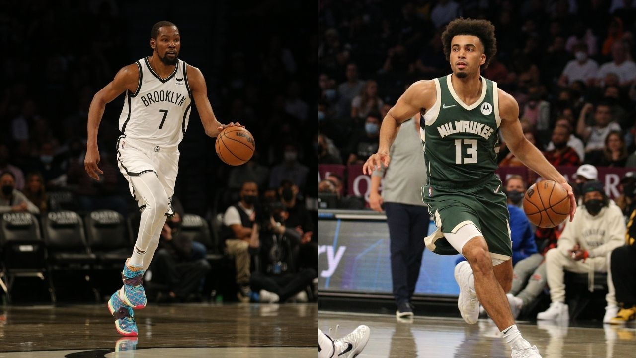"""""""They really had Kevin Durant and Jordan Nwora as the 'key matchup'"""": NBA Twitter is left stunned after a graphic showed the Nets star and Bucks forward as the 'key matchup'"""